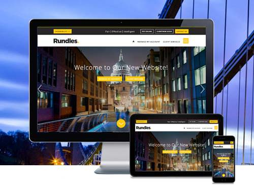 Rundles bespoke website redesign London