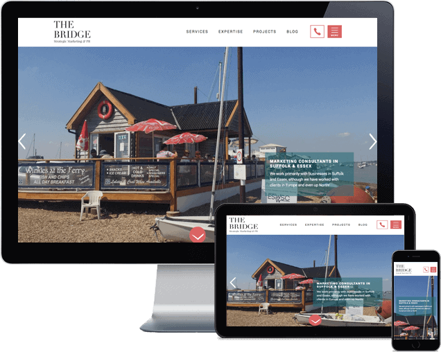 The Bridge Marketing Wordpress website
