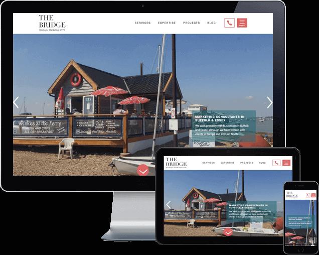The Bridge Marketing Wordpress website